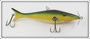Contemporary Green & Yellow Sucker Minnow