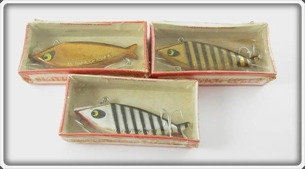Vintage Smithwick Chrome Finish Water Gater Lure Lot Of Three