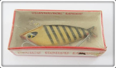 Vintage Smithwick Yellow With Black Stripes Water Gater Lure In Box