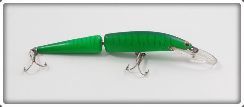 Bagley Jointed Bang O Lure Blue Stripes On Green Swivel Hip