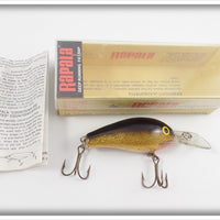 Rapala Deep Running Fat Rap Gold Foil Black Back FR-5 G In Box