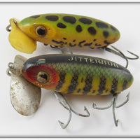 Arbogast Wooden Jitterbug Pair: Frog & Perch