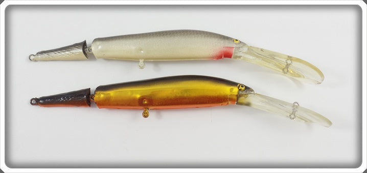 Norman Deep Diving Jointed Minnow Pair: Shad & Gold