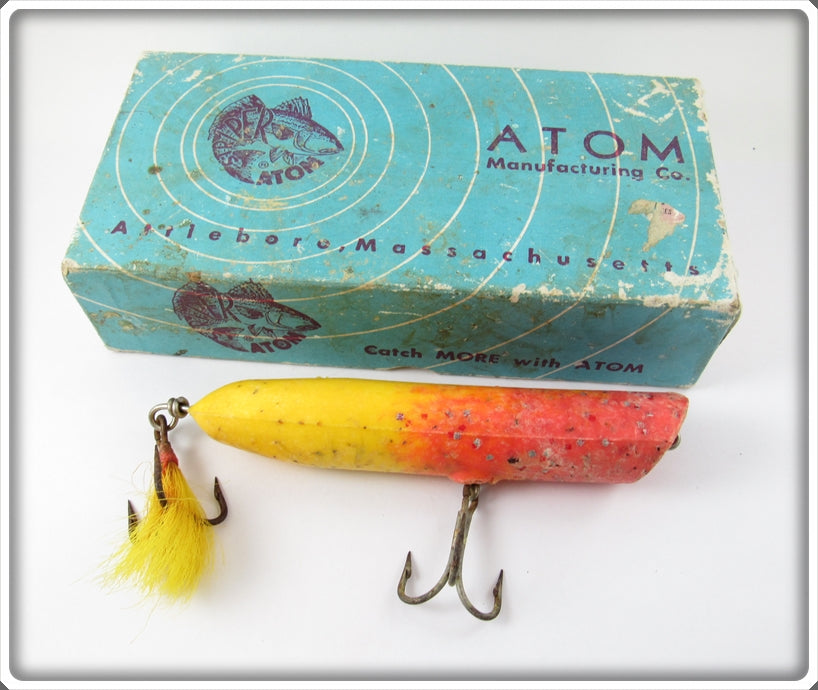 Atom Mfg Co Yellow & Red Striper Swiper In Box