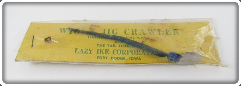 Lazy Ike Blue Wigly Jig Crawler In Package