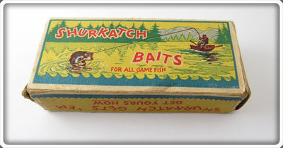 Vintage Shurkatch Fishing Tackle Co Empty Lure Box