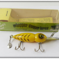 Whopper Stopper Yellow With Black Ribs Hellbender In Correct Box 1103