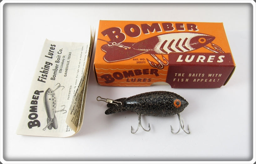Bomber Bait Co Black With Silver Flakes #300 In Correct Box 316