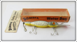 Bomber Bait Co Silver Speckle Yellow Belly Water Dog In Box 1700 SS