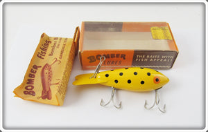 Bomber Bait Co Yellow Black Dots #400 In Correct Box 439