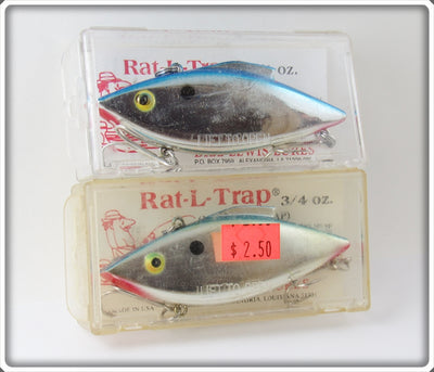 Bill Lewis Chrome Rat-L-Trap Pair In Boxes