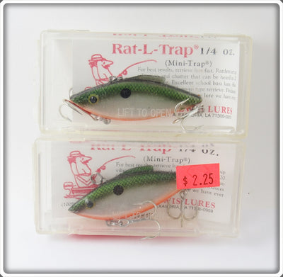Bill Lewis Green Scale Mini Trap Pair In Boxes