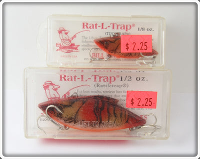 Bill Lewis Crawdad Tiny Trap & Rat-L-Trap Pair In Boxes