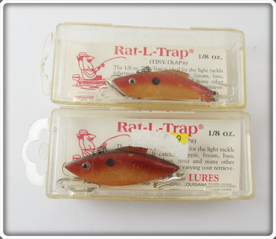Bill Lewis Brown Tiny Trap Pair In Boxes