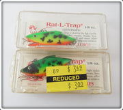 Bill Lewis Green Crawdad Tiny Trap Pair In Boxes