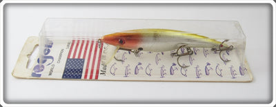 Rogers Chrome Yellow Back Crankbait On Card