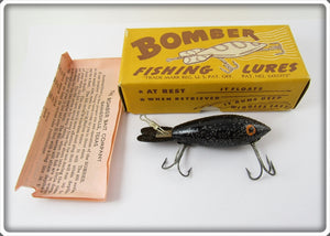 Bomber Bait Co Black With Silver Flakes #400 In Correct Box 416