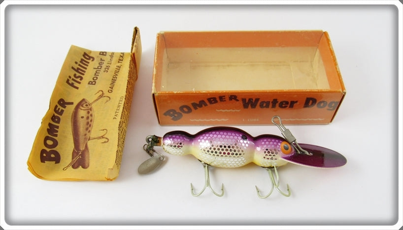Bomber Bait Co Metascale Purple Back Shad Water Dog In Correct Box M1586