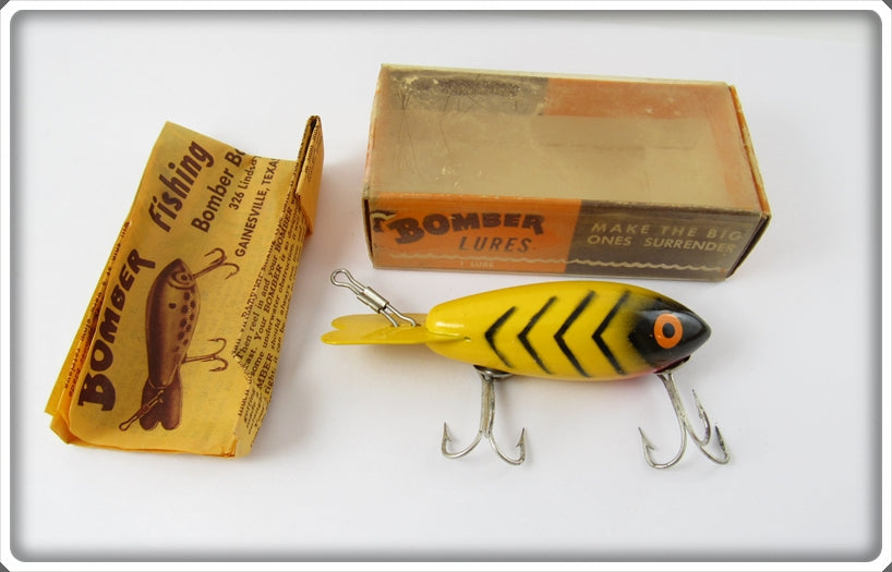 Bomber Bait Co Yellow Black Ribs #400 In Box 420