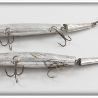 Unknown Rebel Or Rapala Jointed Minnow Type Pair: Silver/Black