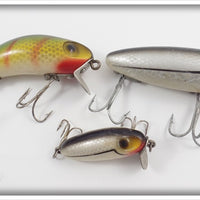 Wright & McGill Lot Of Three: Miracle Minnow & Bug A Boo