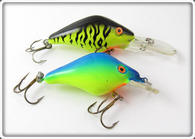 Mann's Chartreuse Tiger & Yellow Blue Razorback Pair
