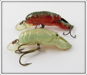 Rebel Glitter Shallow Floater Crawdad Pair