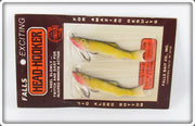 Vintage Falls Bait Co Gold Shiner Minnows On Card