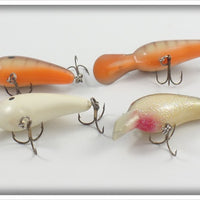 Norman Little N Lot Of Four: Crawdad, White, & White/Green Glitter