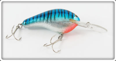 Vintage Bagley Hot Blue On Silver DB3 Diving B III Lure