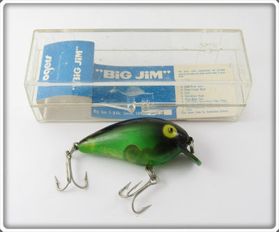 Rogers Translucent Green Black Back Big Jim In Box