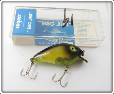 Rogers Translucent Yellow Black Back Big Jim In Box