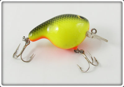 Vintage Bagley Black On Chartreuse Fat Cat Lure