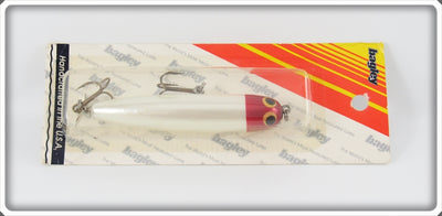 Vintage Bagley Red Head On White ICU Lure On Card