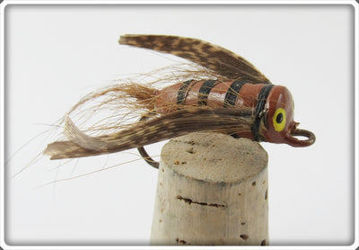 Unknown Brown & Black Feathered Fly Rod Lure