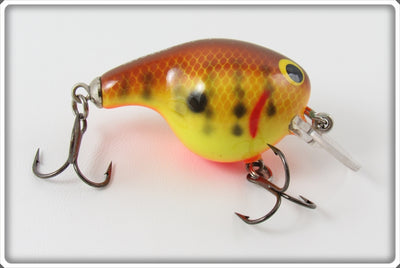 Vintage Bagley Dark Crayfish On Chartreuse Fat Cat Lure