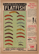1942 Helin Flatfish & Weber Pop N Wigl Two Sided Ad