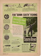 1949 South Bend Lure & Line Ad