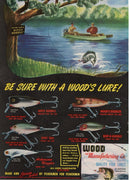 1948 Wood's Lure & Evinrude Two Sided Ad