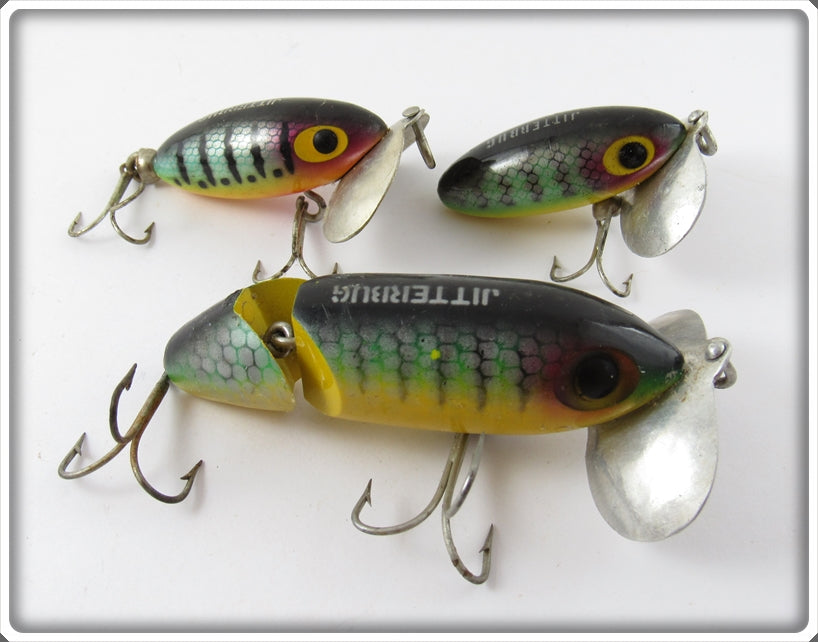 Arbogast Perch Jitterbug Lot Of Three