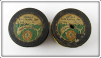 Abbey & Imbrie Emerald Wooden Line Spool Pair