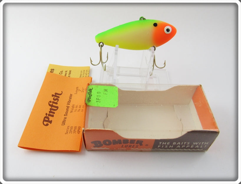 Bomber Fluorescent Green & Orange Pinfish In Box