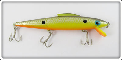 Unknown Possibly Cordell Or Mann's Chartruese Minnow With Fin