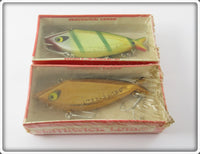 Vintage Smithwick Gold Chrome & Perch Water Gater Lure Pair