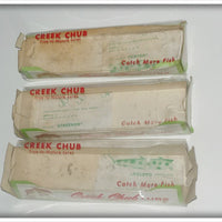 Lot Of Three Empty Creek Chub Boxes: 2639 & 2601