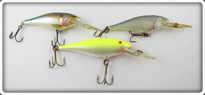 Rapala Deep Runner Lot Of Three: Yellow & Natural