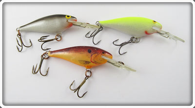 Rapala Deep Runner Lot Of Three: Yellow, Natural, & Silver/Black