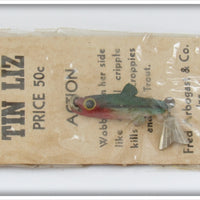 Arbogast Green & Red Fly Rod Tin Liz In Package