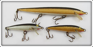 Rapala Silver & Gold Minnow Lot Of Three