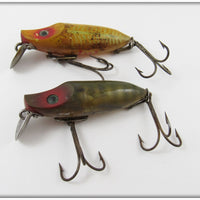 Heddon Natural Scale & Yellow Shore Early River Runt Spook Pair